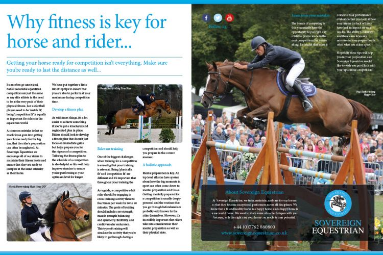 Why fitness is key for horse and rider - Equestrian Life September 2018
