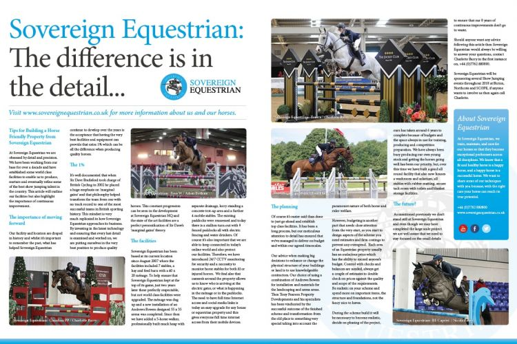 The difference is in the detail - Equestrian Life February 2018