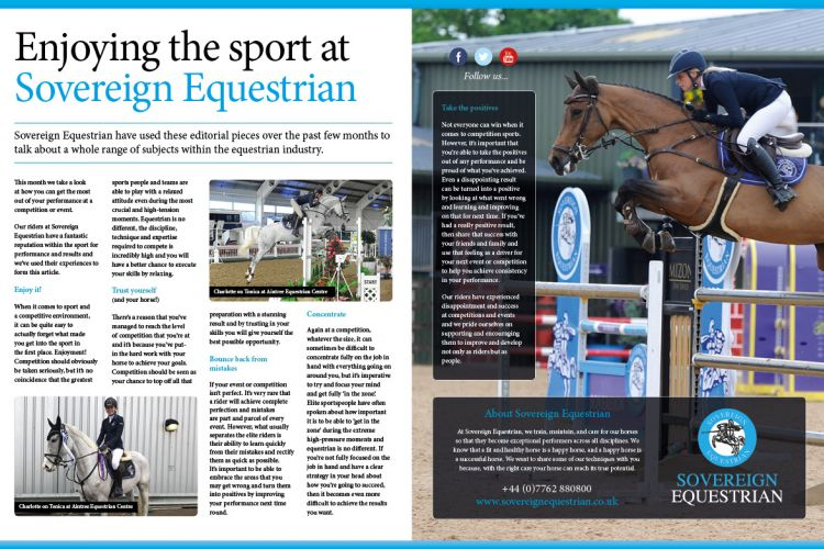 Enjoying the sport at Sovereign Equestrian - Equestrian Life August 2018