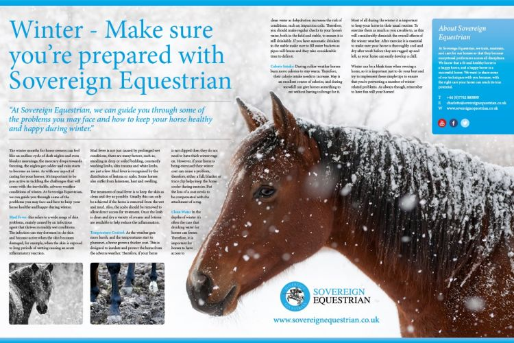 Winter - Make sure you're prepared - Equestrian Life November 2017