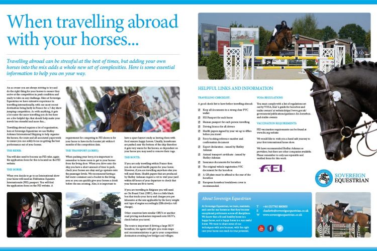 When travelling abroad with horses - Equestrian Life October 2017