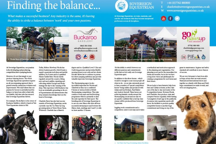 Finding the balance - Equestrian Life September 2017