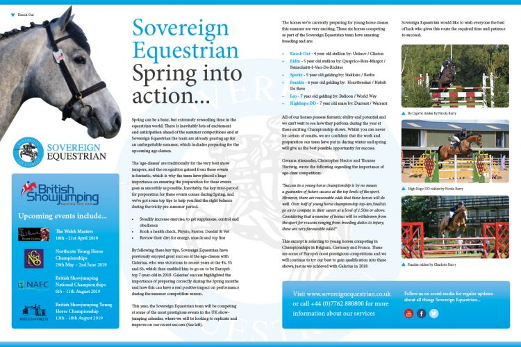 Spring into action - Equestrian Life March 2019